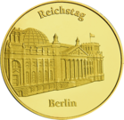 Front side Reichstag Golden Germany