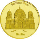 Front side Berliner Dom Golden Germany