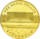 Front side Stockholms slott Golden Sweden