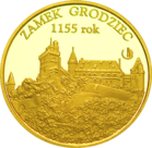 Front side Zamek Grodziec Złoty Dolny Śląsk