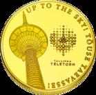 Front side Tallinna Teletorn Goldenes Estonia