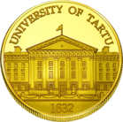 Front side University of Tartu Goldenes Estonia