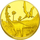 Front side OZAS Dinozaur park in Vilnius Goldenes Lithuania