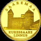 Front side Kuressaare linnus Goldenes Estonia