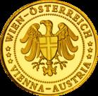 Back side of Kaiserliche Schatzkammer Wien Hofburg Golden Austria