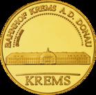 Back side of Krems Bahnhof Golden Austria