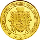 Back side of Burg Liechtenstein Golden Austria