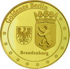 Back side of Reichstag Golden Germany