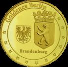 Back side of Berliner Dom Golden Germany