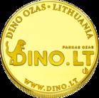 Back side of OZAS Dinozaur park in Vilnius Goldenes Lithuania