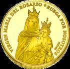 Back side of Santuario María del Rosario de San Nicolás Golden Argentina