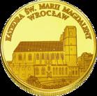 Back side of Katedra św. Marii Magdaleny we Wrocławiu Złoty Dolny Śląsk