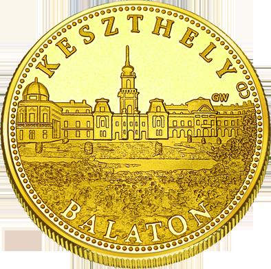 Front side Keszthely Balaton Golden Hungary