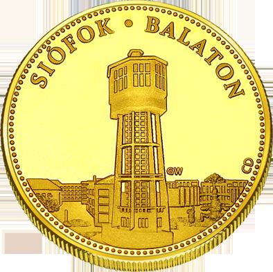 Front side Siófok Balaton Golden Hungary