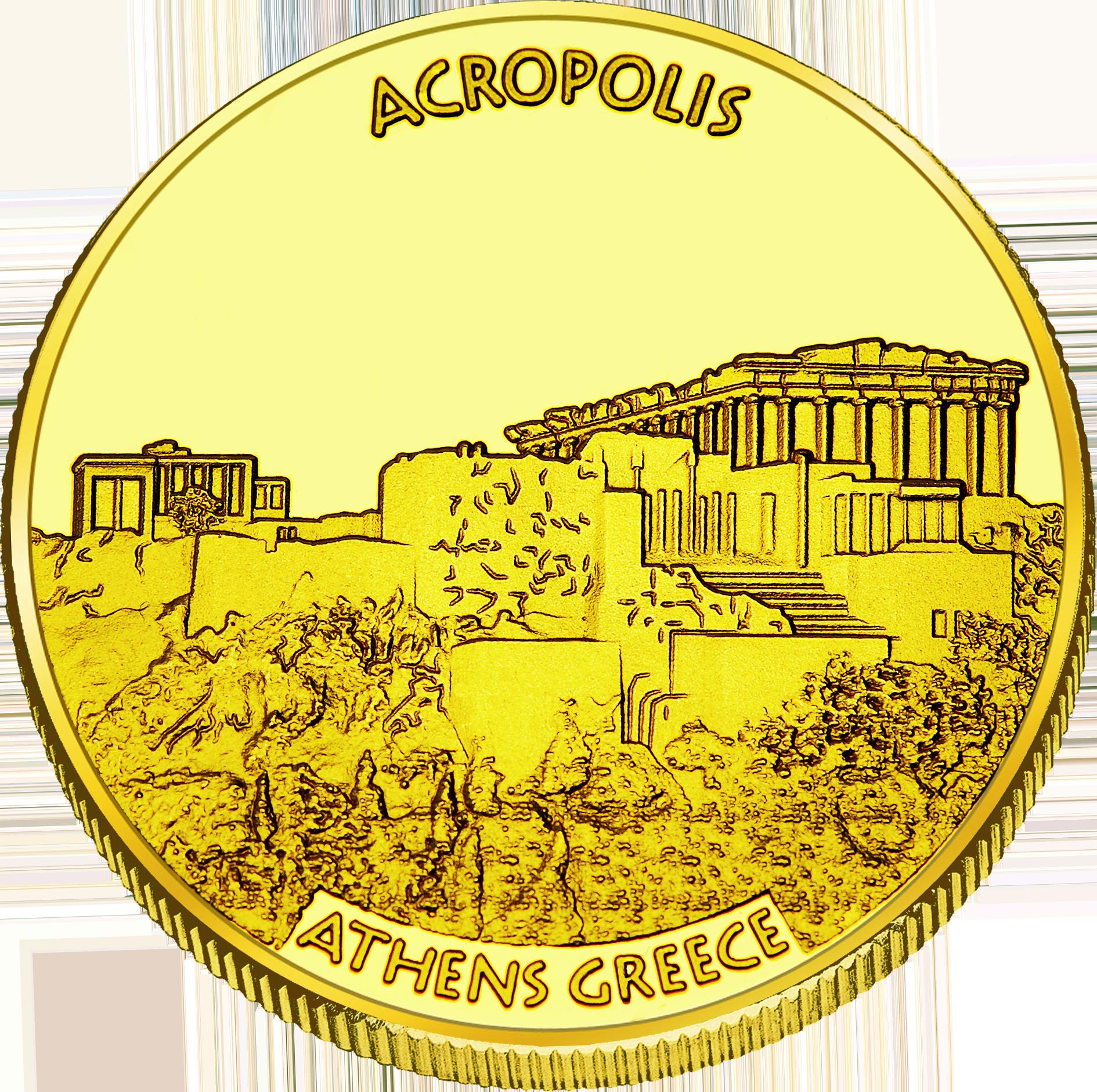 Front side Ακρόπολη Αθηνών Golden Greece