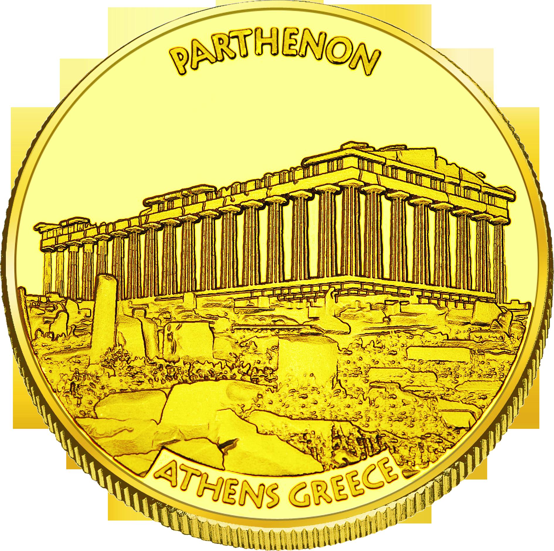 Front side Παρθενώνας Golden Greece