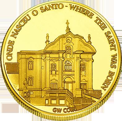 Front side Igreja de Santo António de Lisboa Golden Portugal