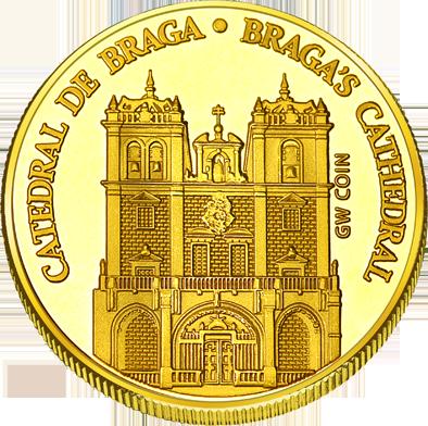 Front side Sé de Braga Golden Portugal