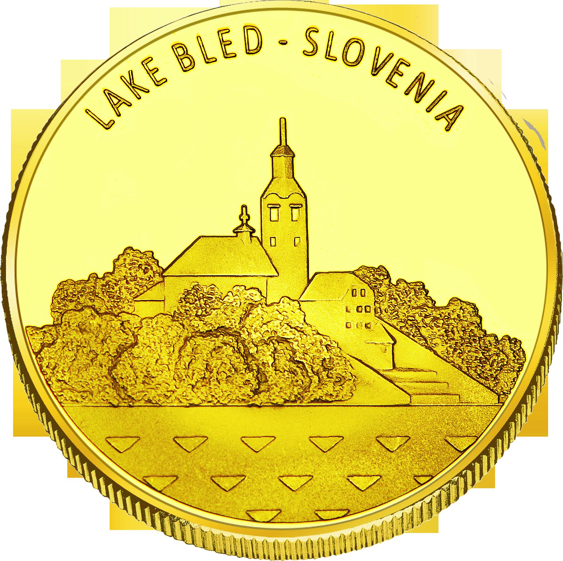 Front side Blejsko jezero Golden Slovenia