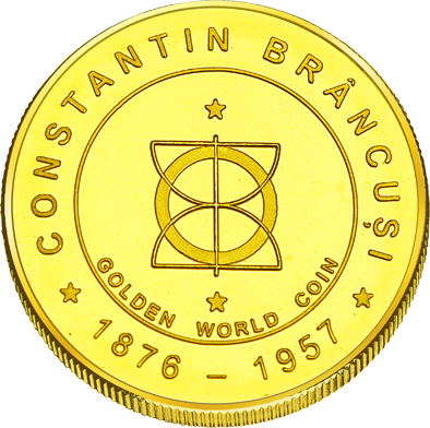 Front side Constantin Brâncuși - Târgu-Jiu Golden Romania