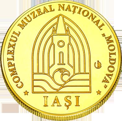 Front side Palatul Culturii din Iași Golden Romania