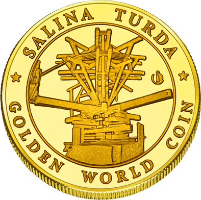 Front side Salina Turda Golden Romania