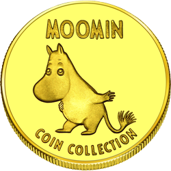 Front side Moomin Naantali Golden Finland