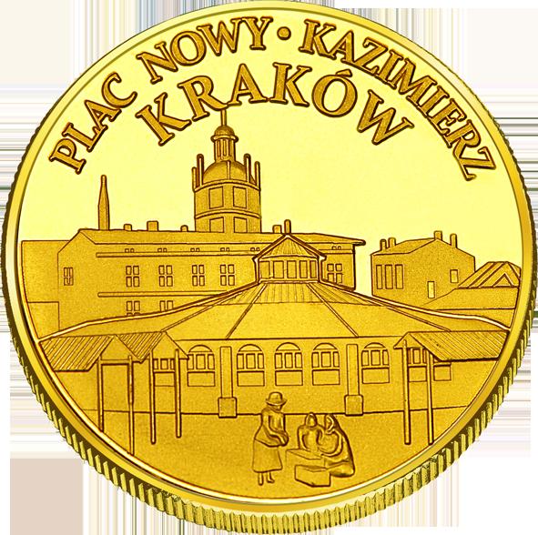 Front side Plac Nowy w Krakowie Złote Małopolskie