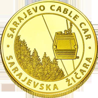 Front side Sarajevska žičara Golden Bosna i Hercegov.