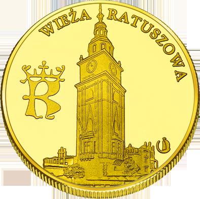 Front side Wieża Ratuszowa w Krakowie Złote Małopolskie