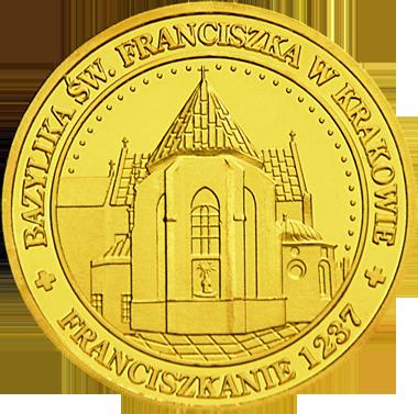 Front side Bazylika Św. Franciszka z Asyżu w Krakowie Złote Małopolskie