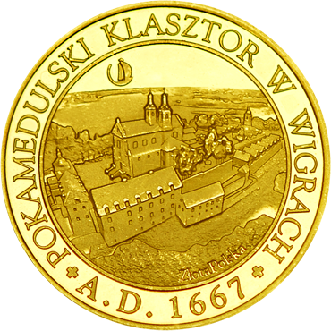 Front side Pokamedulski Klasztor w Wigrach Złote Podlaskie