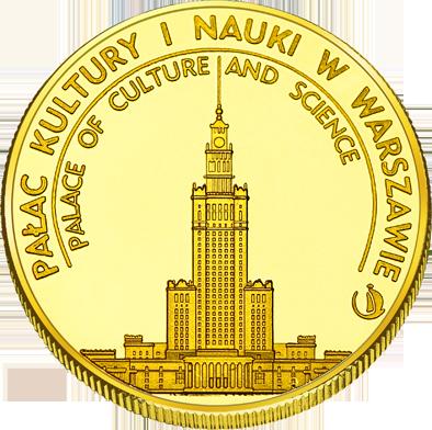 Front side Pałac Kultury i Nauki w Warszawie Złote Mazowieckie