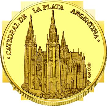 Front side La Catedral de La Plata Golden Argentina