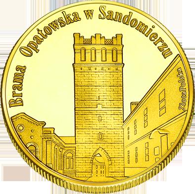 Front side Brama Opatowska w Sandomierzu Złote Świętokrzyskie