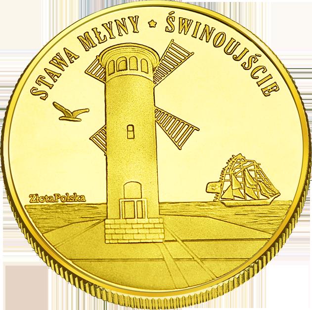 Front side Stawa Młyny - Latarnia w Świnoujściu Złote Zachodnio-Pomorskie