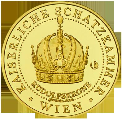 Front side Kaiserliche Schatzkammer Wien Hofburg Golden Austria