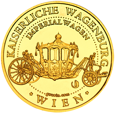 Front side Kaiserliche Wagenburg Schloss Schönbrunn Golden Austria