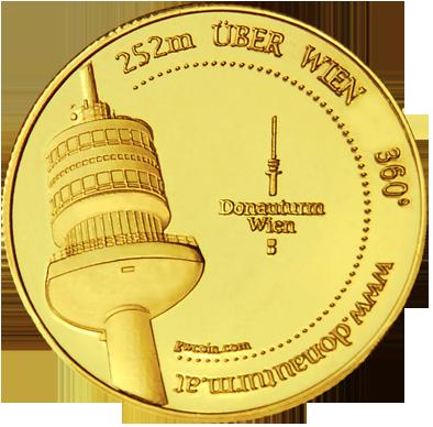 Front side Donauturm - Wien Golden Austria