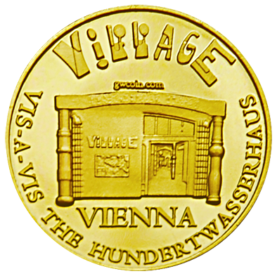 Front side Hundertwasser Village Golden Austria