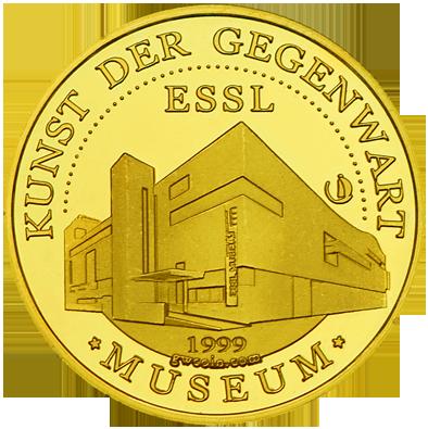 Front side Essl Museum Klosterneuburg Golden Austria