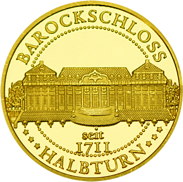 Front side Barockjuwel Schloss Halbturn Golden Austria