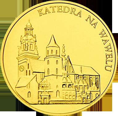 Front side Bazylika Archikatedralna na Wawelu Złoty Kraków
