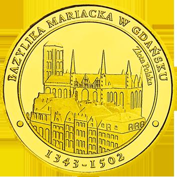 Front side Bazylika Mariacka w Gdańsku Szlak Jana Pawła II