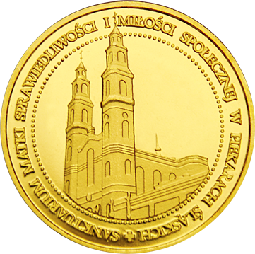 Front side Sanktuarium w Piekarach Śląskich Złote Śląskie