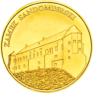 Front side Zamek Sandomierski Złote Zamki i Pałace