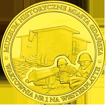 Front side Wartownia nr 1 na Westerplatte Złote Pomorze