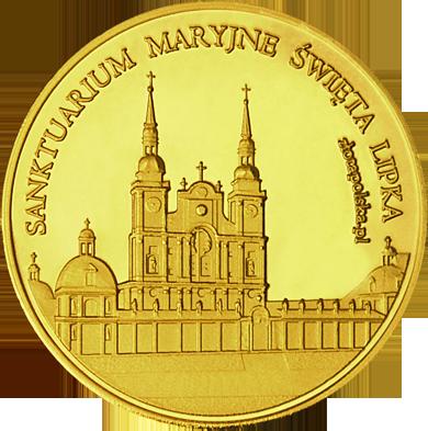 Front side Sanktuarium Maryjne w Świętej Lipce Złota Warmia i Mazury