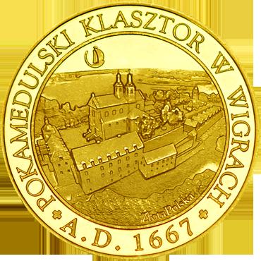 Front side Pokamedulski Klasztor w Wigrach Szlak Jana Pawła II