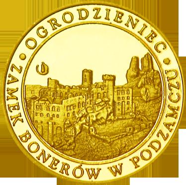 Front side Zamek Ogrodzieniec Złote Śląskie